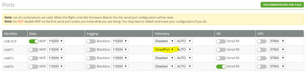 SMARTPORT Settings